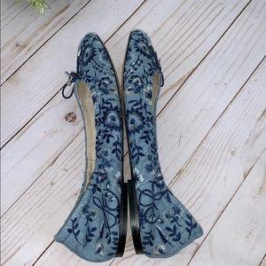 Sam Edelman Shoes - Sam Edelman Shoes Felicia ballet denim flats 8.5